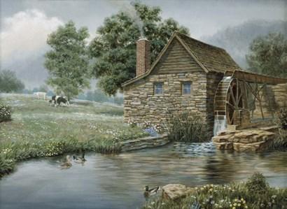 Country Mill by Richard Burns art print