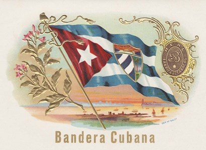 Bandera Cubana by Art of the Cigar art print