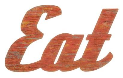 EAT Script Cut Out by RetroPlanet art print