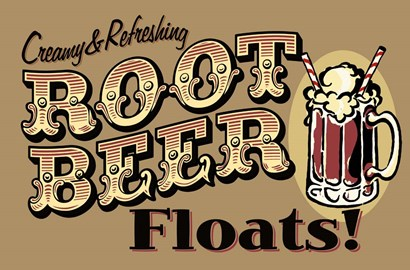 Root Beer Floats by RetroPlanet art print