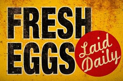 Fresh Eggs by RetroPlanet art print
