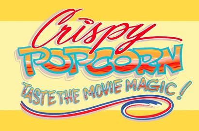 Crispy Popcorn by RetroPlanet art print