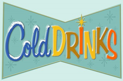 Cold Drinks by RetroPlanet art print