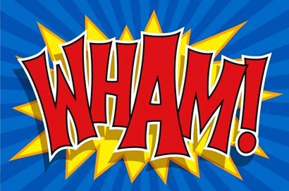 Wham by RetroPlanet art print