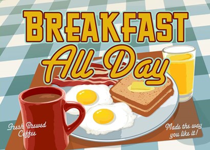 Breakfast All Day by RetroPlanet art print