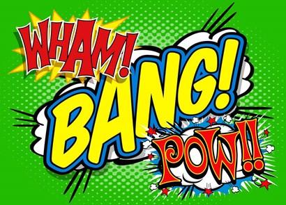 Wham Bang Pow by RetroPlanet art print
