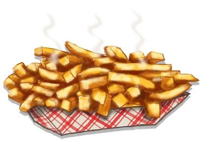 Fries by RetroPlanet art print