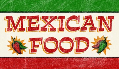 Mexican Food by RetroPlanet art print