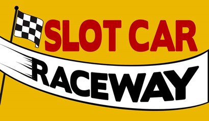 Slot Car Raceway by RetroPlanet art print
