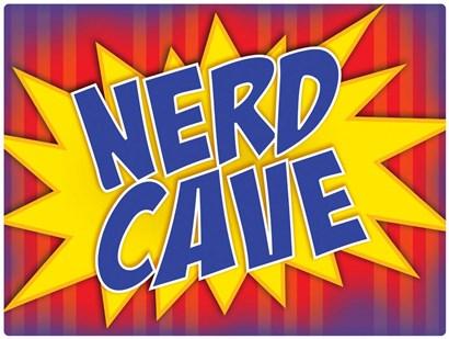 Nerd Cave Comic by RetroPlanet art print