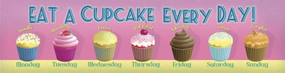 Cupcake Every Day by RetroPlanet art print
