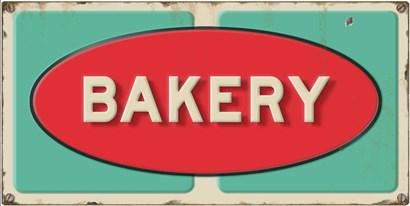 Bakery Embossed by RetroPlanet art print