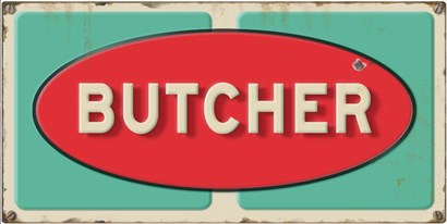 Butcher Embossed by RetroPlanet art print