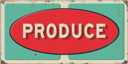 Produce Embossed by RetroPlanet art print