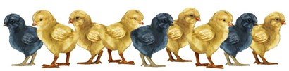 Chicks Group No Wood by RetroPlanet art print