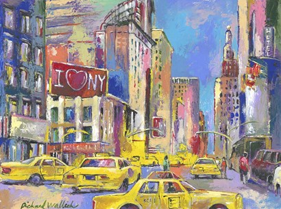 New York Taxi by Richard Wallich art print