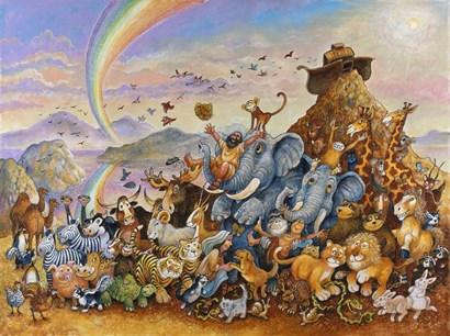 Noah Rejoicing by Bill Bell art print