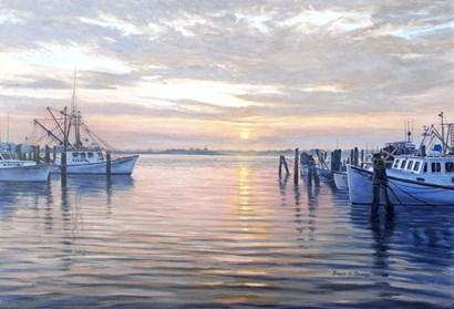 Sunset at Galilee by Bruce Dumas art print