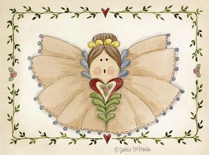 Ruffled Angel by Debbie McMaster art print