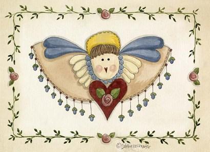 Beaded Angel by Debbie McMaster art print