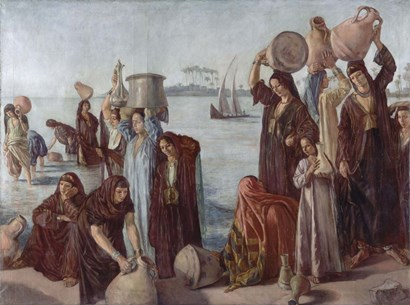 Women Drawing Water from the Nile by Emile Bernard art print
