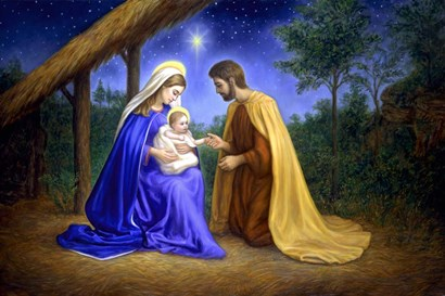 Baby Jesus by Edgar Jerins art print