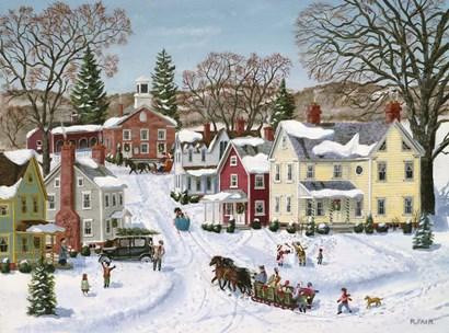 Christmas Sleigh by Bob Fair art print