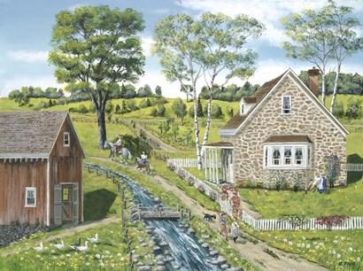Cottage Pathway by Bob Fair art print