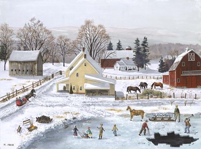 Ice In The Country by Bob Fair art print