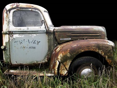 1947 Ford 1 Ton by Larry Hunter art print