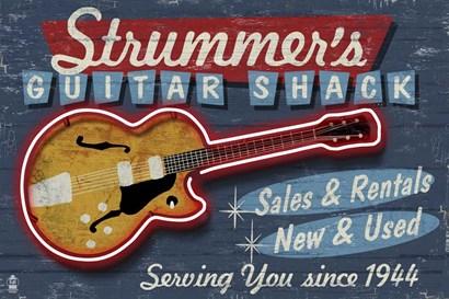 Strummer's Guitar Shack by Lantern Press art print