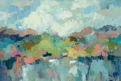 Abstract Lakeside by Silvia Vassileva art print