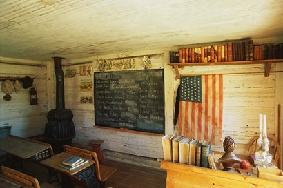 First School in Montana by Panoramic Images art print