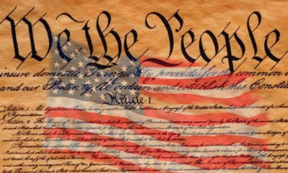 Constitution and U.S. Flag by Panoramic Images art print