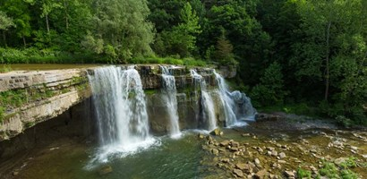 Ludlowville Falls on Salmon Creek, Finger Lakes, New York State by Panoramic Images art print