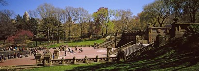 Tourists enjoying at Bethesda Terrace, Central Park, Manhattan, New York City, New York State, USA by Panoramic Images art print