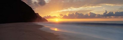 Kalalau Beach Sunset, Hawaii by Panoramic Images art print