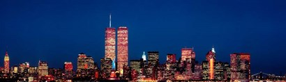 New York City Skyline with World Trade Center by Panoramic Images art print