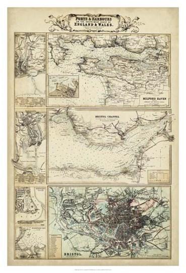 Map of the Coast of England II art print