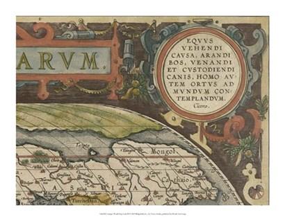 Antique World Map Grid III by Vision Studio art print