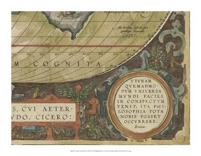 Antique World Map Grid IX by Vision Studio art print