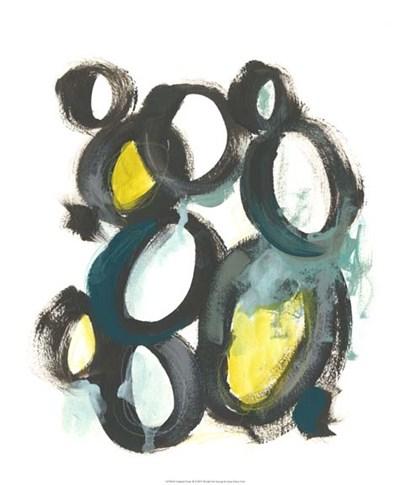 Linked Ovals II by June Erica Vess art print