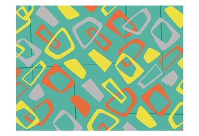Retro Blocks Mate by Jace Grey art print