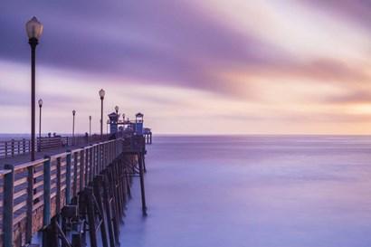 Dusk at the Oceanside Pier by Chris Moyer art print