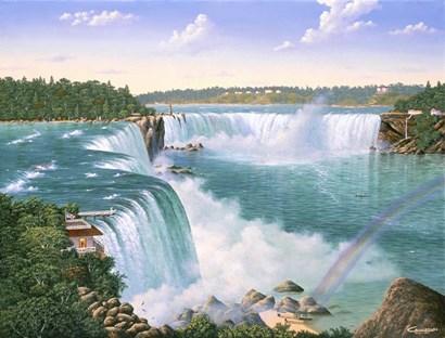 Niagara Falls In 1860 by Eduardo Camoes art print