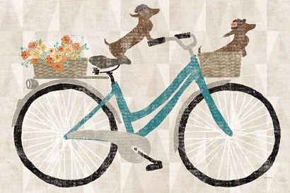 Doxie Ride by Sue Schlabach art print