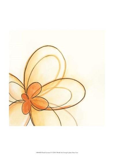 Floral Gesture IV by June Erica Vess art print