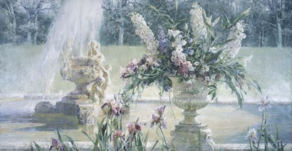 Fountain in the Country Estate by Larisa Psaryova art print