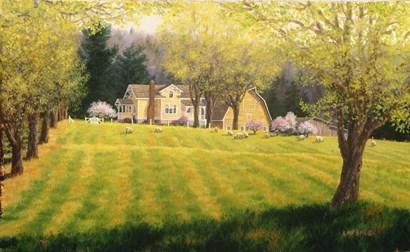 Spring Pastures by Randy Van Beek art print