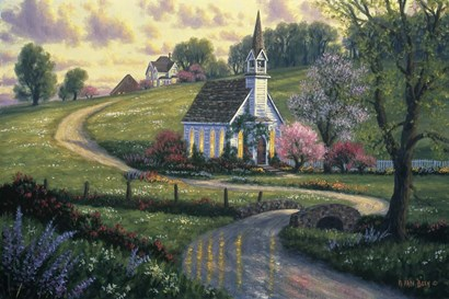 Community Church by Randy Van Beek art print